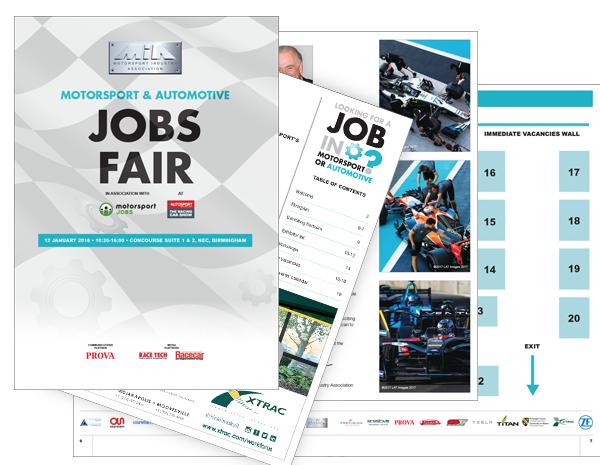 Motorsport Jobs Fair brochure