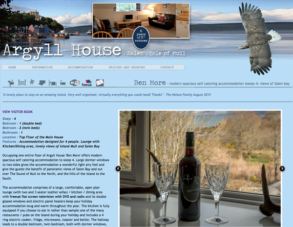 Argyll House website - please click to see full site