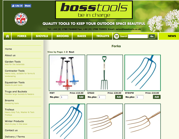 Boss Tools website - please click to see full site