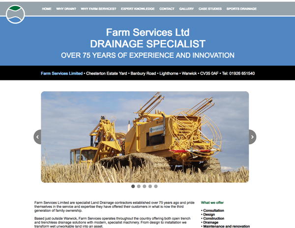 Farm Services website - please click to see full site