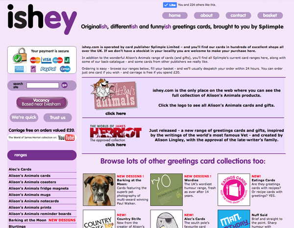 ishey website - please click to see full site