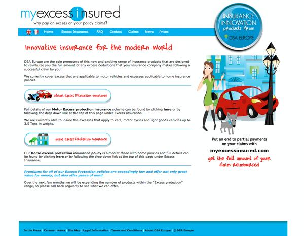 My Excess Insured website - please click to see full site