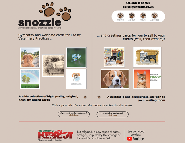 Snozzle website - please click to see full site